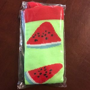 Accessories - Lime green watermelon compression socks nwot